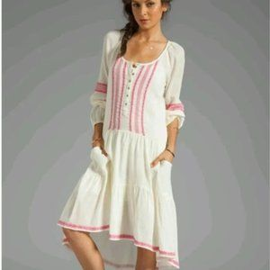 Free People Light Heart Embroidered Gauze Dress